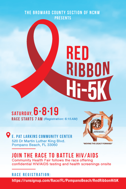 NCNW Broward Red Ribbon Hi5K